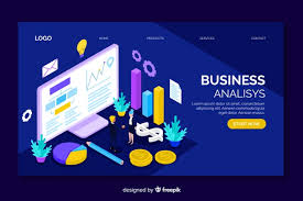 Business Analysis Software Free Download Business Analysis Isometric Landing Page Vector Free Download