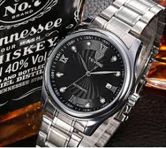 dropshipping designer mens diamond watches uk uk delivery new europe classic business men luxury designer mechanical watches mens silver stainless steel diamonds wrist watch black face date gift box dropshipping uk