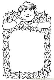 autumn frame coloring page