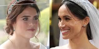 princess eugenie s royal wedding makeup pared to meghan markle s princess eugenie bridal hannah martin makeup artist