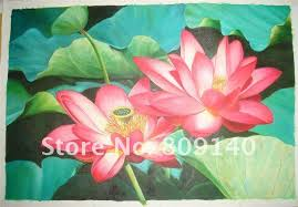 feng shui paintings for office. Free Shipping Oil Painting Canvas Red Flower Chinese Lotus Classical Home Decoration Office Wall Art Decor High Quality Handmade-in \u0026 Calligraphy Feng Shui Paintings For A