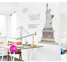 liberty bedroom wall mural: cm height statue of liberty new york wall stickers united states decal mural removal paper kids