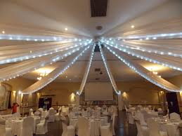 Strip ceiling draping with fairy lights at Midrand Conference Centre