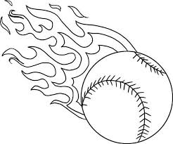 Small Picture Fire Baseball Coloring Page Download Print Online Coloring