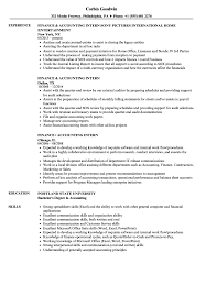 Accounting Intern Resume Example Finance Accounting Intern Resume Samples Velvet Jobs 8