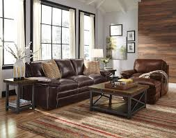 Penthouse Dark Brown Leather Sofa Loveseat Intended For Couch Decor