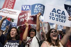 americans fear they ll lose coverage obamacare repeal poll image supporters of the affordable care act celebrate after the supreme court up held the