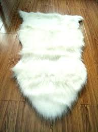 faux fur rug white nice looking sheepskin soft chair cover pad carpet small sof