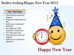 Chart On Happy New Year Happy New Year Clock Powerpoint Templates Slides And Graphics