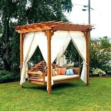 Canopy Swing Outdoor Bed Hanging Porch Swings Bed Swing Outdoor ...