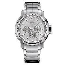 hugo boss watches 1512110 mens polished stainless steel bracelet strap