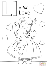 Letter L Is For Love Coloring Page Free Printable Coloring Pages