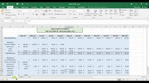 cash flow statement indirect method in excel cash flow statement in excel youtube