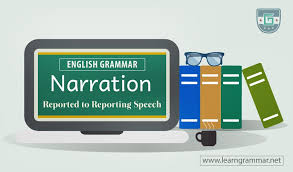 Narration Reported To Reporting Speech Learn English