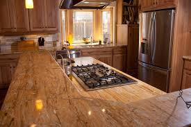 Glass Mosaic Tile Backsplash With Beautiful Kitchen Granite - Kitchen granite countertops