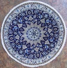 round oriental rugs blue