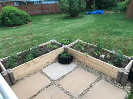 new raised beds using home depot planter wall blocks