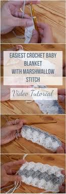 Easiest Crochet Baby Blanket With Marshmallow Stitch Video Tutorial   Easy  crochet baby blanket, Easy crochet baby, Baby blanket crochet