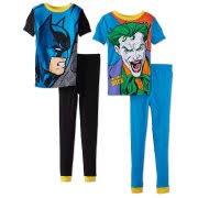 boys pajamas super heroes boys batman and joker 4 piece cotton pajama set sizes 4 10