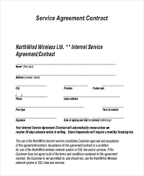 Service Agreement Samples Contractor Contract Form 1549