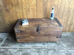 vintage upcycled military ammo industrial trunk chest box coffee table rustic vinterior