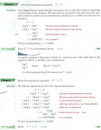 2 use logarithms to solve exponential equations