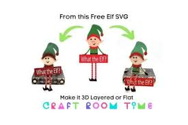 Search images from huge database containing over 290,000 silhouettes. 3d Sitting Christmas Elf Free Svg Craft Room Time