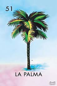 Match all 4 symbols in any complete horizontal, vertical or diagonal line in the playing board to win prize shown for that line. Amazon Com 51 La Palma Palm Tree Loteria Card Mexican Bingo Lottery Cool Wall Decor Art Print Poster 24x36 Posters Prints