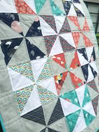 Pinwheel Baby Quilt - Sew Delicious & tsuru pinwheel quilt 2 Adamdwight.com