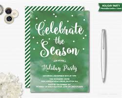 holiday invitations watercolor christmas invitation christmas party holiday