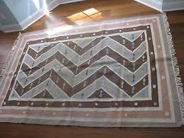 vintage hand woven 100 wool dhurrie rug area rug 7