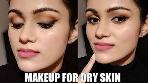 ठण ड म र ख त वच क म कअप winter makeup for dry skin in hindi smokey winged liner