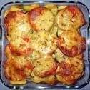 Кабачок запеченный с сыром и помидорами в духовке рецепт 155