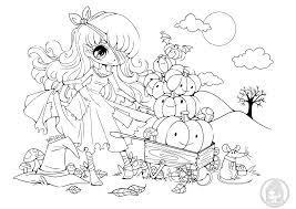 Coloriage Princesse Citrouille Par Yampuff Dessin A Imprimer
