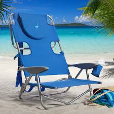 blue beach chairs with neck rest for outdoor furniture ideas