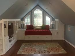 Paint For Bedrooms With Slanted Ceilings Making A Playroom In Your Attic Bonus Rooms Window And Craft Rooms