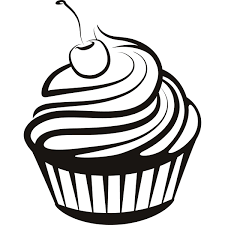 cupcake drawing black and white.  White Cupcake Black And White Cupcake Drawings Cupcakes Clipart Inside Drawing Black And White C