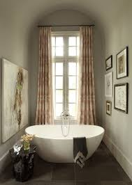 traditional bathroom lighting ideas white free standin. Exquisite Traditional Bathroom Contemporary Art Is Tub Nook With Black Curtain Rod Pink Drapes Paired Lighting Ideas White Free Standin R