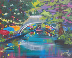 how to paint river walk ages 16