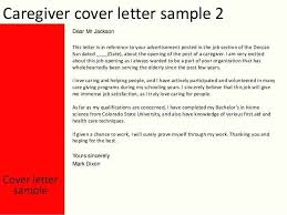 Cover Letter For Caregiver With No Experience Cover Letter Caregiver