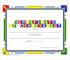 free preschool certificates editable new free doc certificate of achievement preschool