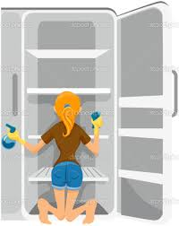 cleaning the refrigerator. clean out refrigerator clipart cleaning the