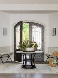 foyer tables entry beach with round table french doors