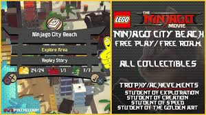 Lego Ninjago Movie Videogame: Ninjago City Beach FREE PLAY/FREE ROAM  (AllCollectibles) - HTG - YouTube
