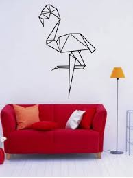 Small Picture Black 5790cm Geometry Cartoon Ostrich Design Wall Stickers For