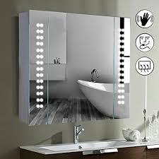 from 110 99 led illuminated bathroom mirror cabinet shaver demister sensor galactic uk