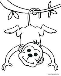 Sock Monkey Coloring Pages Monkey Picture To Color Sock Monkey