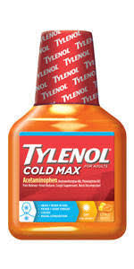 Tylenol Cold And Flu Severe Dosage Chart Tylenol Cold Max Liquid Daytime 8 Oz Cold Cough Flu