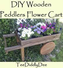 diy wooden peddlers flower cart