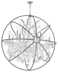 innovative chrome orb chandelier foucaults orb chandelier 13 lts with orb chandelier with crystals